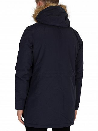Lyle & Scott Dark Navy Winter Weight Microfleece Parka Jacket
