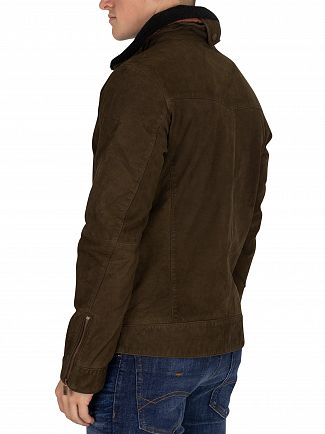 Scotch & Soda Military Classic Nubuck Leather Jacket