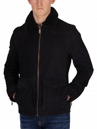 Scotch & Soda Night Classic Nubuck Leather Jacket