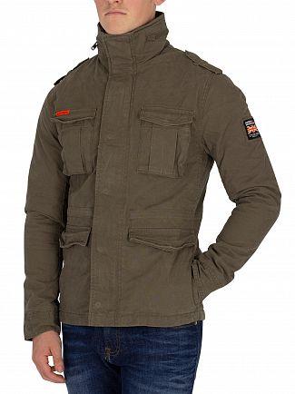 Superdry Khaki Classic Rookie Military Jacket