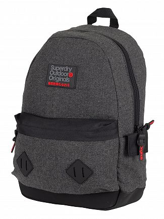 Superdry Grey Herringbone Herrington Montana Backpack