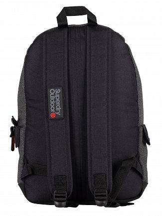 Superdry Grey Herringbone Herrington Montana Backpack