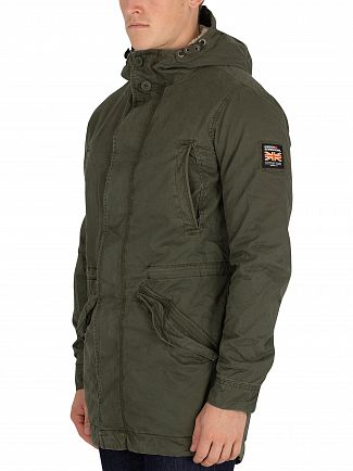 Superdry Forest Night New Military Parka Jacket