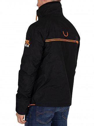 Superdry Black/Fluro Orange Polar Windattacker Jacket