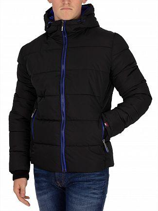 Superdry Black/Cobalt Sports Puffer Jacket