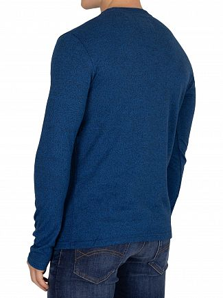 Superdry Peppered Blue Grit Vintage Authentic Fade Longsleeved T-Shirt
