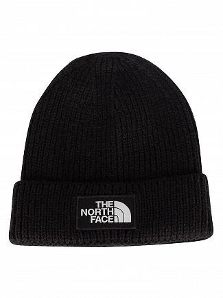 The North Face Black Logo Box Beanie