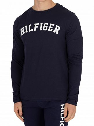 Tommy Hilfiger Navy Blazer Longsleeved Graphic T-Shirt