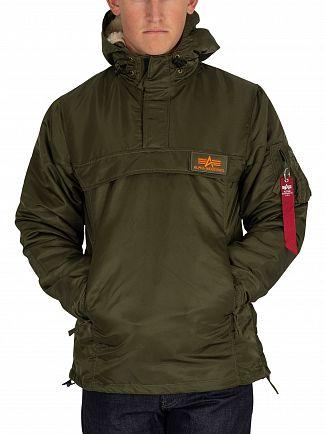 Alpha Industries Dark Green HPO Anorak Jacket