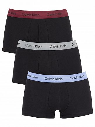 Calvin Klein Silver/Monument/Pheobe 3 Pack Low Rise Trunks