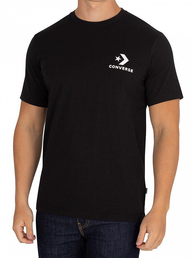 Converse Black Chest Star T-Shirt