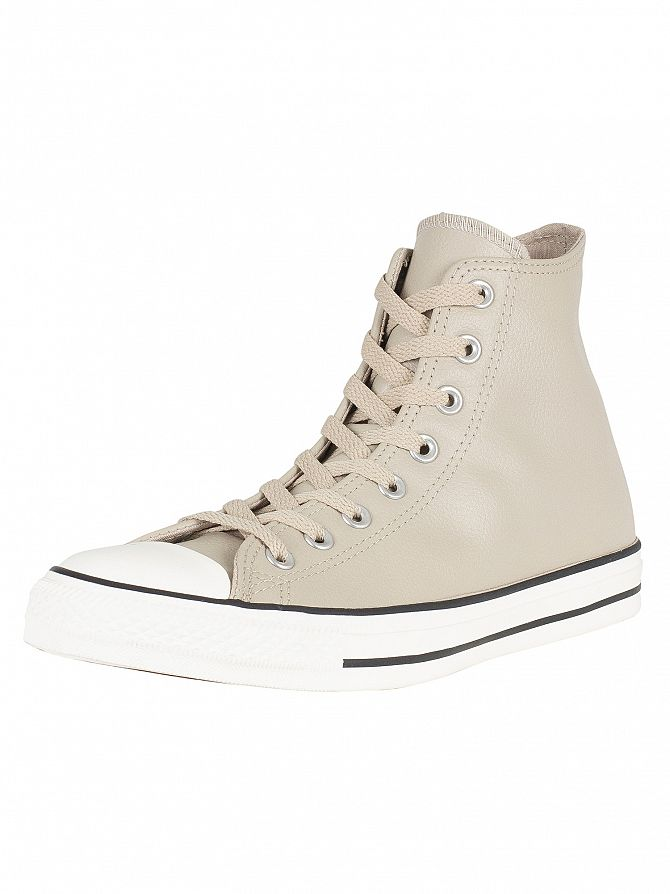 Converse Beige CT All Star Hi Leather Trainers