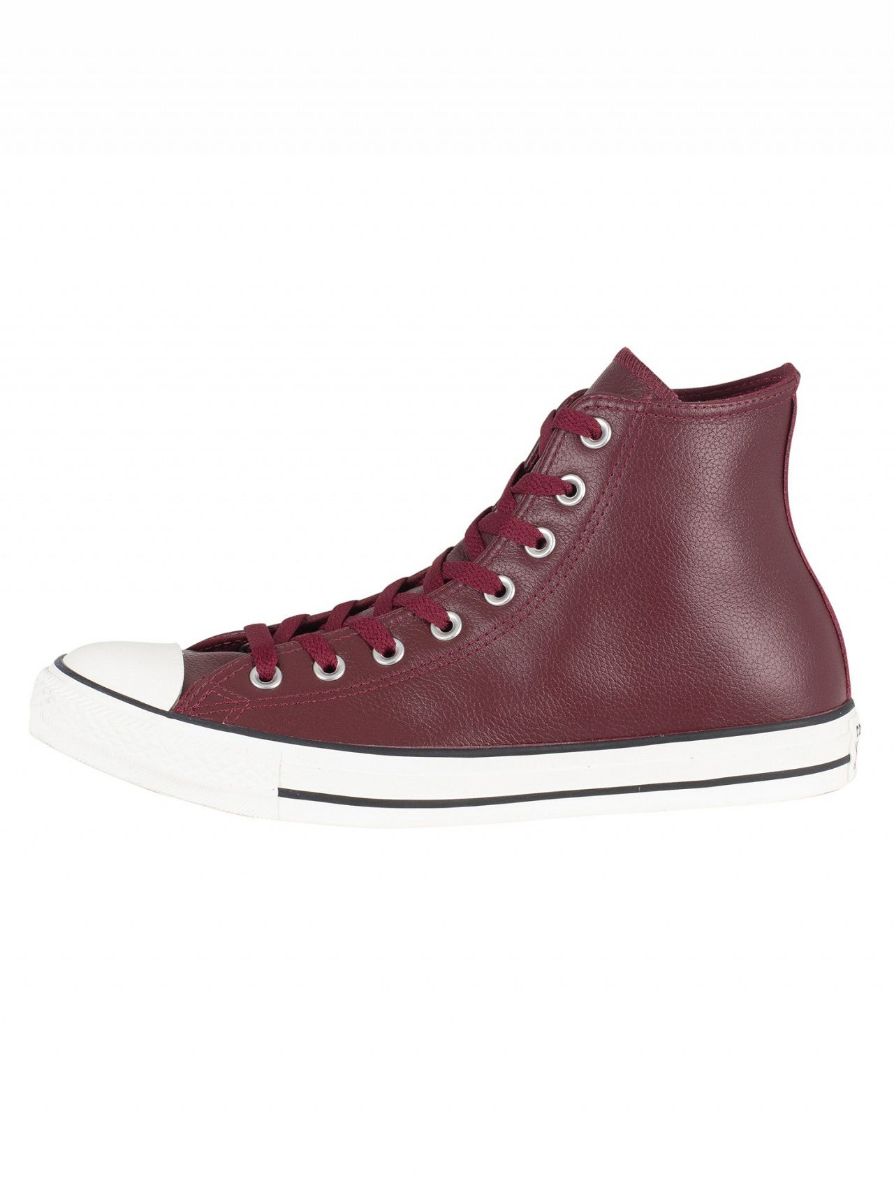 3261548c6974 Converse Dark Burgundy CT All Star Hi Leather Trainers