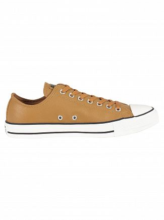 Converse Burnt Caramel CT All Star Ox Leather Trainers