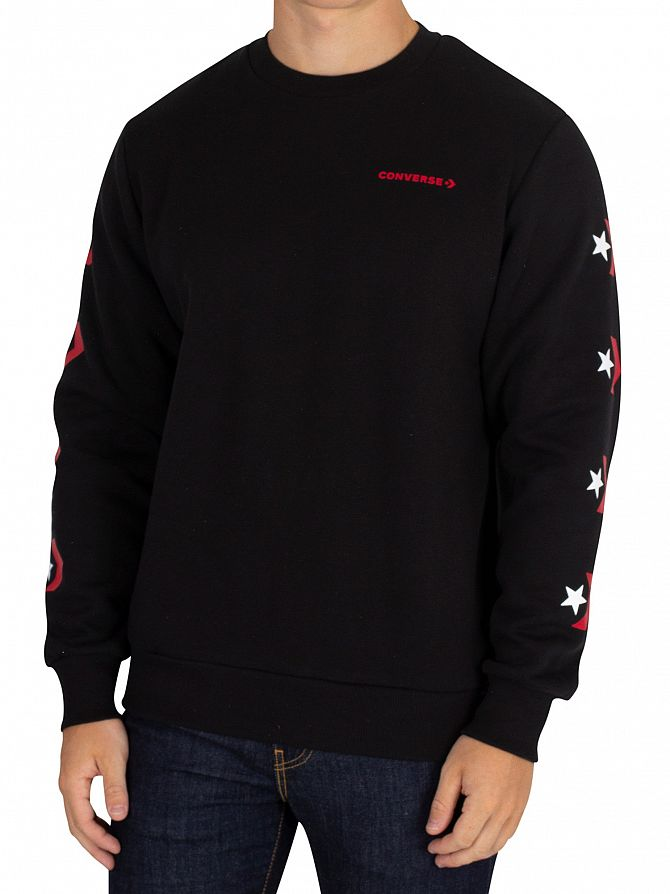 Converse Black Graphic Sweatshirt