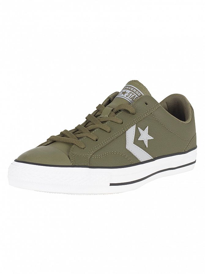 Converse Medium Olive Star Player Ox Leather Trainers