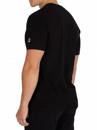 Fila Vintage Black Alexis Tonal Twill Box T-Shirt