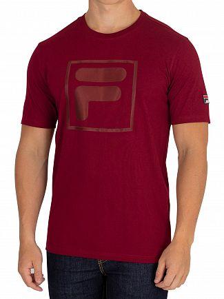Fila Vintage Tibetan Red Alexis Tonal Twill Box T-Shirt
