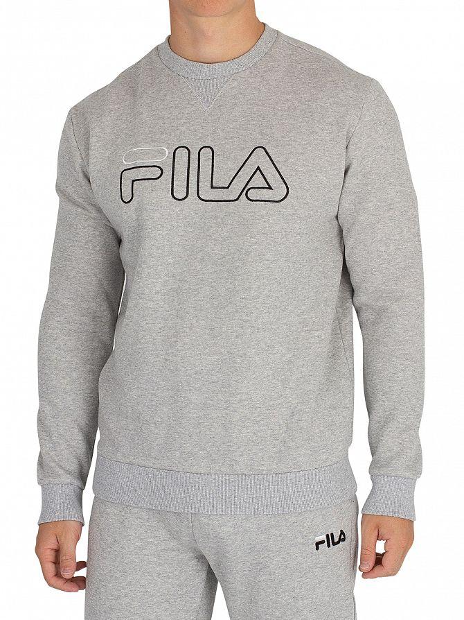 Fila Vintage Light Grey Marl/Black/White Basil Sweatshirt
