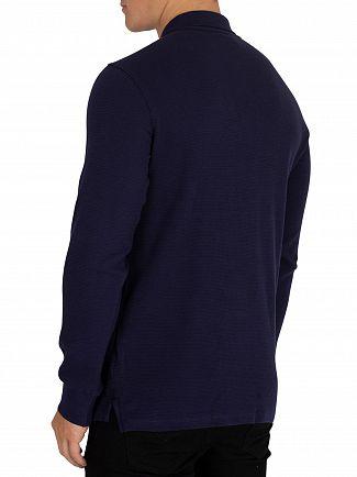 Fila Vintage Peacoat Bertoni Essential Longsleeved Slim Poloshirt