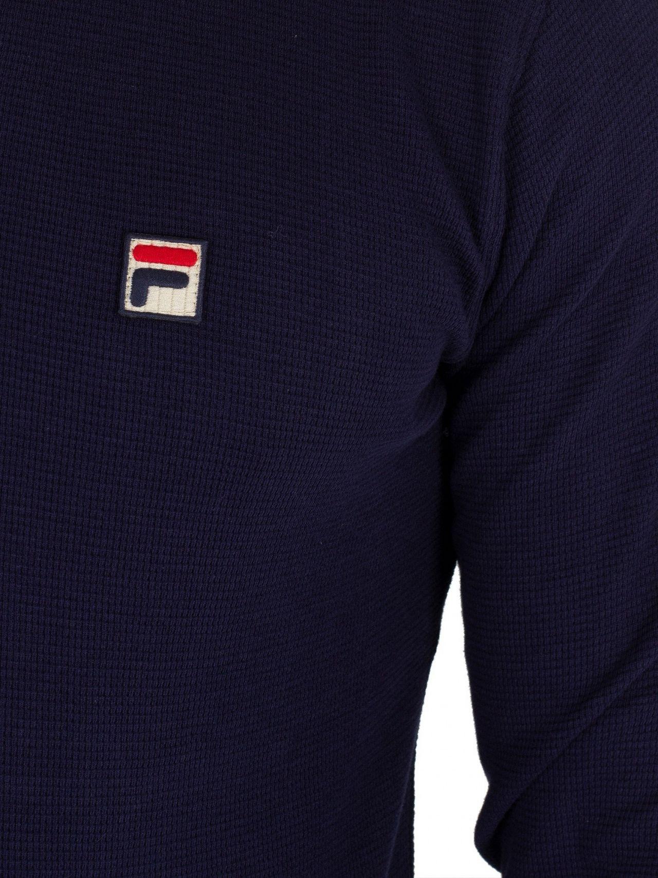 752e0773 Fila Peacoat Bertoni Essential Longsleeved Slim Poloshirt