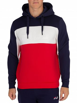 Fila Vintage Chinese Red/Peacoat/White Crispin Scuba Pullover Hoodie