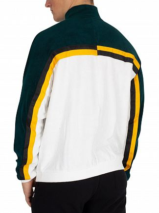 Fila Vintage White/Green Ethan Terry Towelling Track Jacket