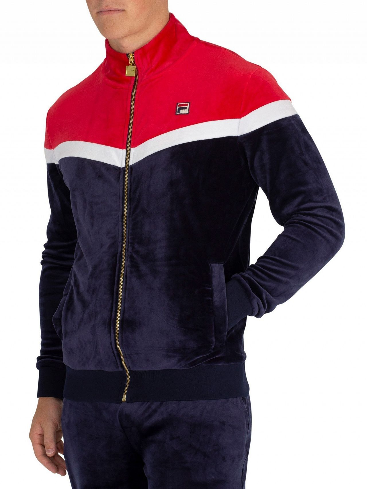 72215350 Fila Peacoat/White Harry Vintage Style Track Jacket   Standout