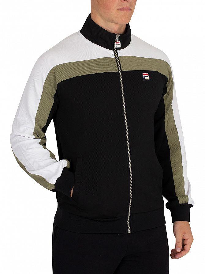 Fila Vintage Black/White/Dry Grass Parker Vintage Style Track Jacket