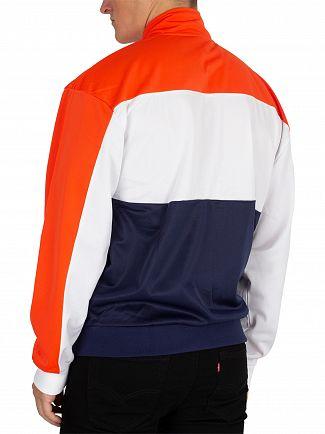 Fila Vintage White/Orange/Peacoat Sterling Cut & Sew Colour Block Track Jacket