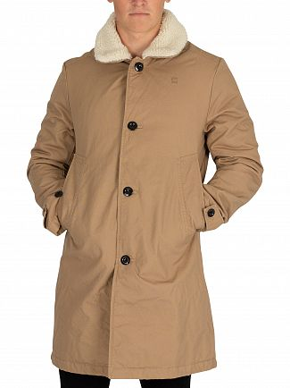 G-Star Atacama Garber Canvas Sherpa Overcoat