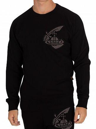 Vivienne Westwood Black Classic Patch Sweatshirt