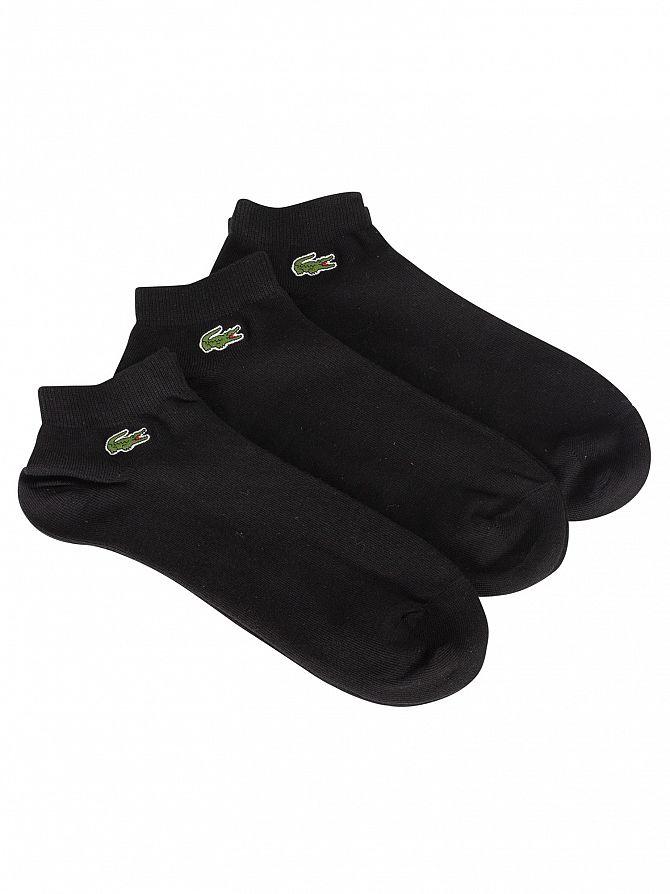 Lacoste Black 3 Pack Sport Inside Socks