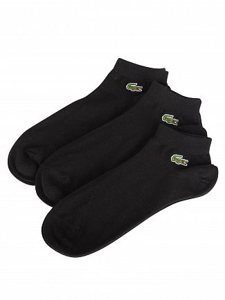 Lacoste Black 3 Pack Sport Inside Socks