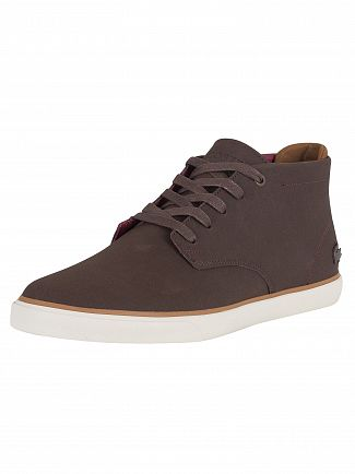 Lacoste Dark Brown Esparre Chukka 318 1 CAM Leather Trainers