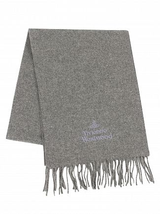 Vivienne Westwood Grey Logo Scarf