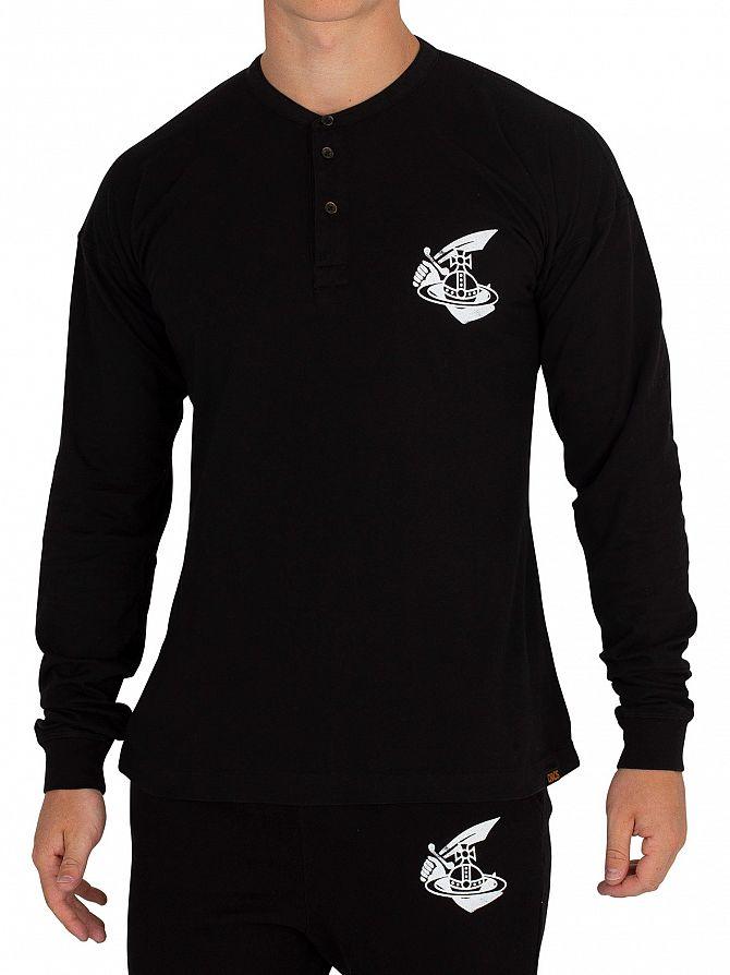 Vivienne Westwood Black Longsleeved Grandad T-Shirt