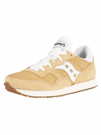 Saucony Tan/White DXN Vintage Trainers