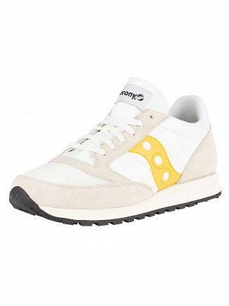 Saucony Cement/Yellow Jazz Original Vintage Trainers