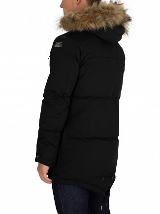 Schott Black Lincoln Parka Jacket