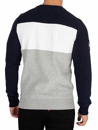 Superdry Navy/Optic/Grey Marl Academy Colour Block Sweatshirt