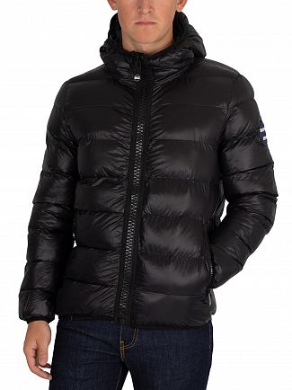 Superdry Black Crater Padded Jacket