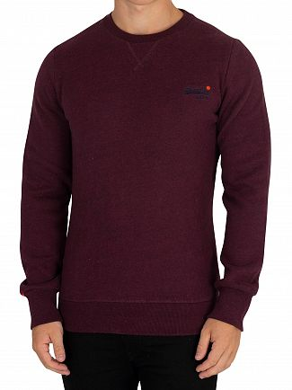 Superdry Boton Burgundy Marl Orange Label Sweatshirt
