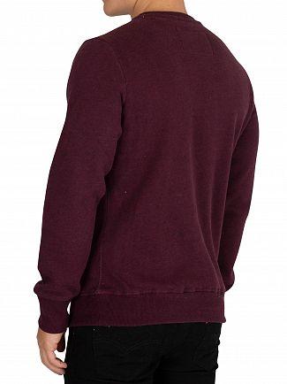 Superdry Boton Burgundy Marl Orange Label Sweatshirt