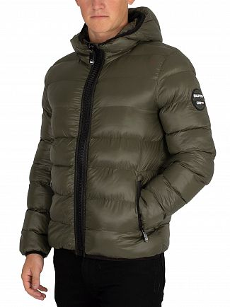 Superdry Forest Green Crater Padded Jacket