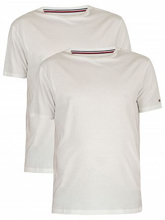 Tommy Hilfiger White 2 Pack Cotton T-Shirts