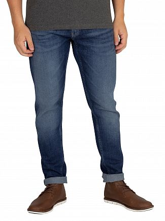 Tommy Jeans Wooden Mid Blue Modern Tapered Jeans