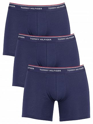 Tommy Hilfiger Peacoat 3 Pack Premium Essentials Boxer Briefs