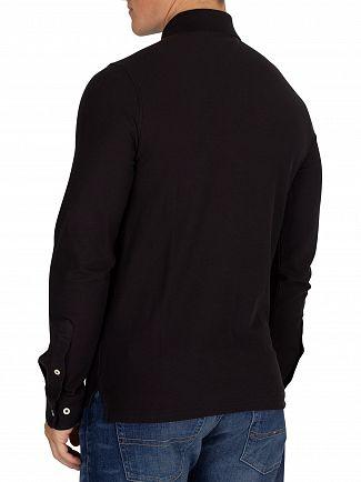 Tommy Hilfiger Jet Black Longsleeved Slim Poloshirt