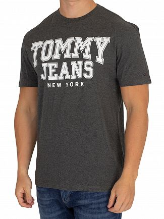 Tommy Jeans Dark Grey Heather Essential Graphic T-Shirt
